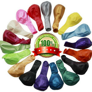 100-X-Latex-PLAIN-BALOONS-BALLONS-Helium-BALLOONS-Quality-Party-Birthday-Wedding