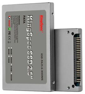 64GB KingSpec 2.5-inch PATA/IDE SSD Solid State Disk MLC Flash SM2236 Controller