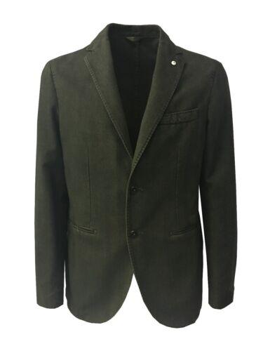 Uomo Giacca L Sfoderata b cotone Vest m Spinato 1911 Invernale Verde 100 Slim IffUgqw