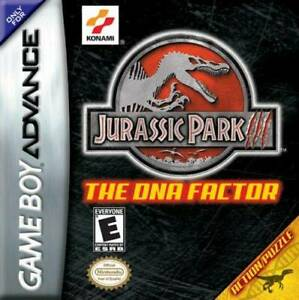 Jurassic-Park-3-The-DNA-Factor-GBA-Great-Condition-Fast-Shipping