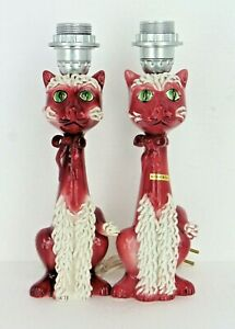 Beautiful-Rare-Pair-Vintage-Mid-Century-Spaghetti-Cat-Lamps-Made-In-Italy