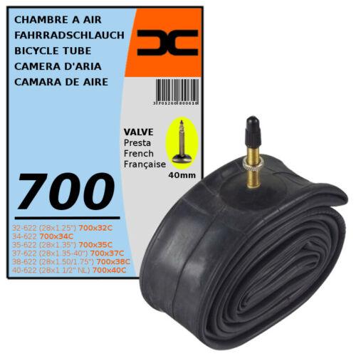 INNER TUBE 700x32C 40C PRESTA VALVE TYPE 40mm BICYCLE TYRE MTB 32//40-622