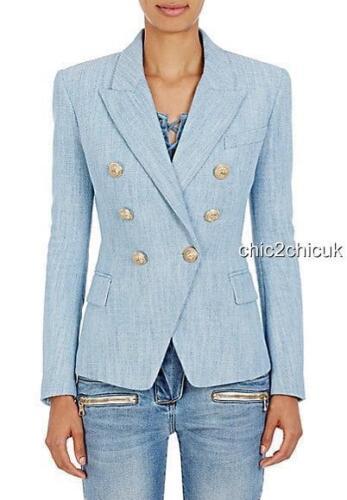 con Blazer Auth blu Giacca Dress Fr36 Uk8 New bottoni Balmain 4IRpdwq
