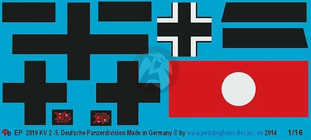Peddinghaus 1//16 Panzer IV Ausf.F Tank Markings 5th Pz.Div Russia 1941 WWII 2638