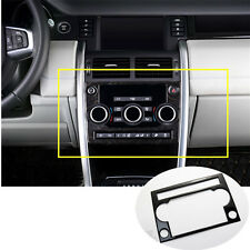 Stainless Console CD Panel Cover For Land Rover Discovery Sport(15-17)Black