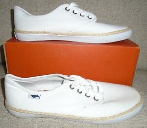 In White Plimsolls Ladies Canvas New Eur40 Dog Uk7 Rocket Brand wqAFII