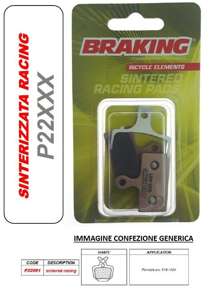 BRAKING PASTIGLIE FRENO  SINTERIZZATA RACING MTB E-BIKE Formula gold K18   K24  wholesale cheap and high quality