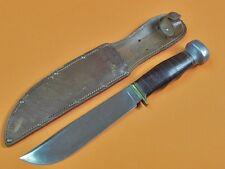 Vintage US KA-BAR KABAR Union Cutlery TRAIL BLAZER Hunting Knife w/ Sheath