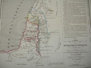 Carte du royaume d'Hérode comprenant la Judée- la Samarie- la Galiléé & la Perée kOSpg3G0-08064524-236192970