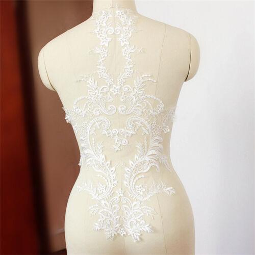 Bridal Dress Lace Applique Wedding Accessories Trim Floral Embroidery Motif 1 PC