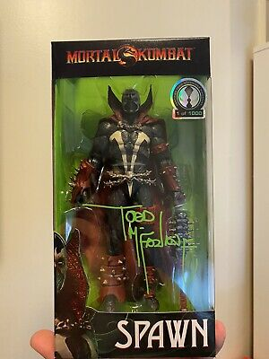 """Mortal Kombat Spawn Figure Signed by Todd Mcfarlane 7/"""" LE 1000 Free Shipping"""