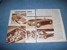 "1952 Siata Gran Sport Vintage Sports Car Article ""Americanized Siata"""