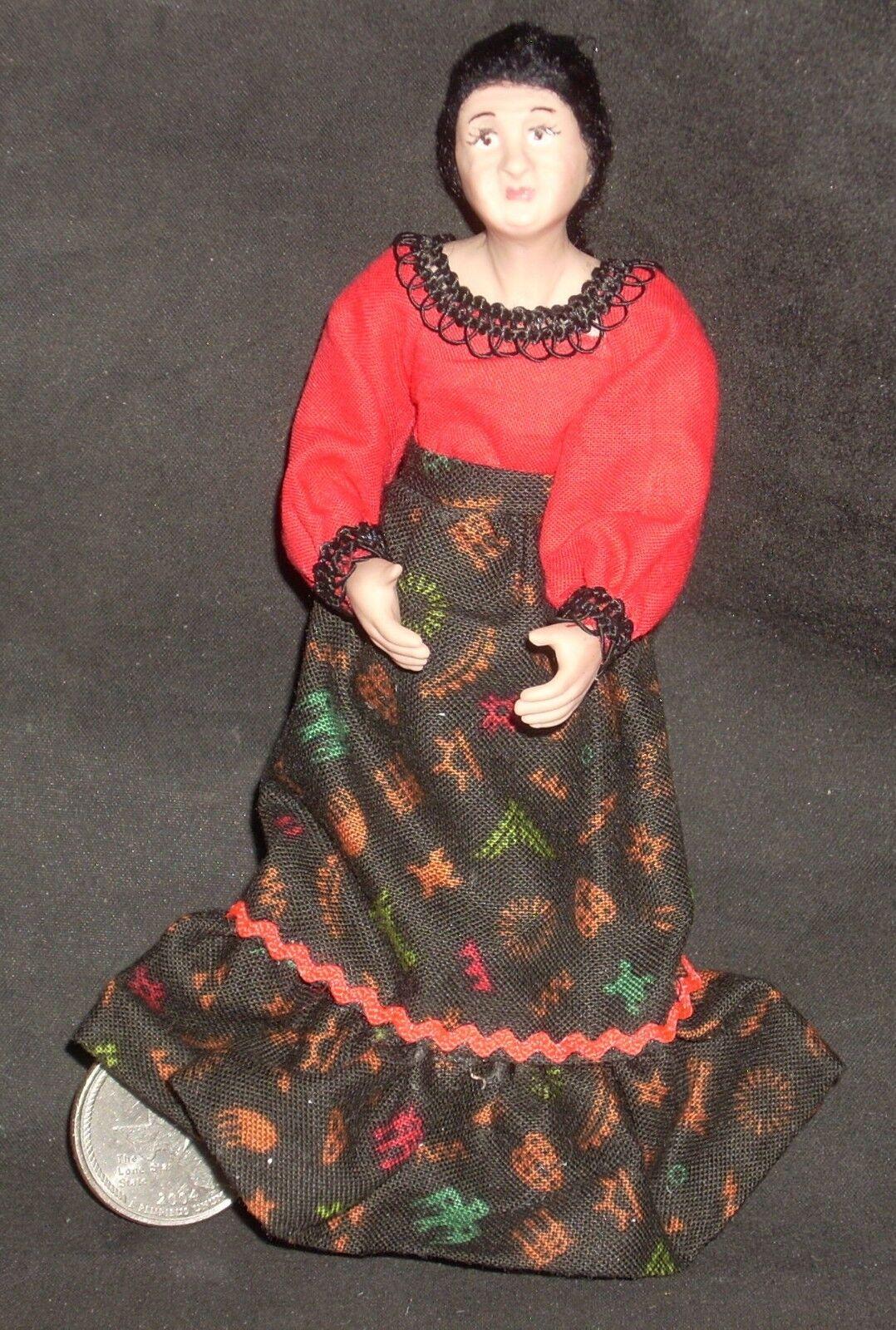1:12 Dollhouse Miniature Doll Older Hispanic Mexican Woman Ceramic  9848 Thomas