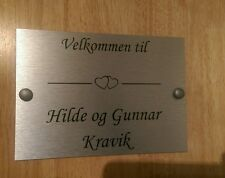 Norwegian Door Plaque Personalised House Name Or Number Door Sign