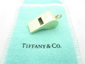 5213a0fca Vintage Tiffany & Co. 14k Yellow Gold Rare Medium Size Whistle Charm ...