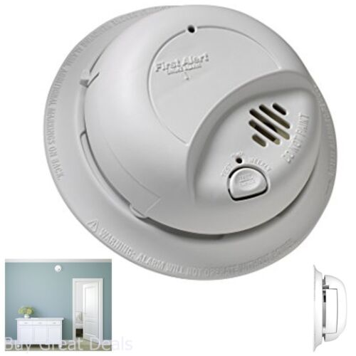 Smoke Alarm Detector Hardwired with Battery Backup Wall Mount US