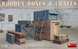 Miniart En Bois Boites & Crates Boîte 1:3 5 Kit De Montage Modèle 35581 Diorama Plus De Rabais Sur Les Surprises
