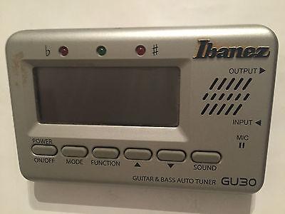 Ibanez Gu30 Tuner Stimmgerät Für Gitarre Und Bass Taille Und Sehnen StäRken