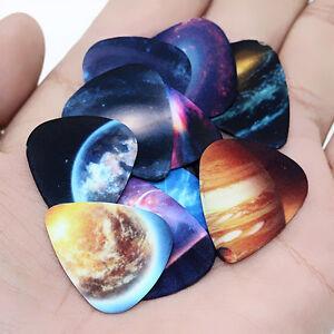 Fj-Bl-10pcs-Musical-Accessori-Universe-Planet-Plettri-per-Chitarra-Misto-Ne