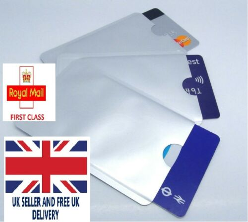 RFID Blocking Sleeve Credit Card Protector Holder Wallet Contact less UK Stock