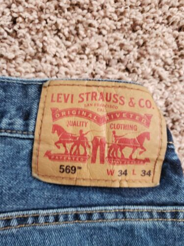 Jeans Jeans Euc 34x34 Sz Bleu Levi Strauss Homme wI05Tnq
