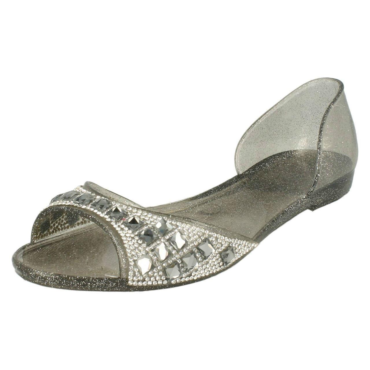 Oferta Spot On F0794 las Señoras Estaño Toe Verano Encuesta/Playa Zapatos Peep Toe Estaño 0584b1