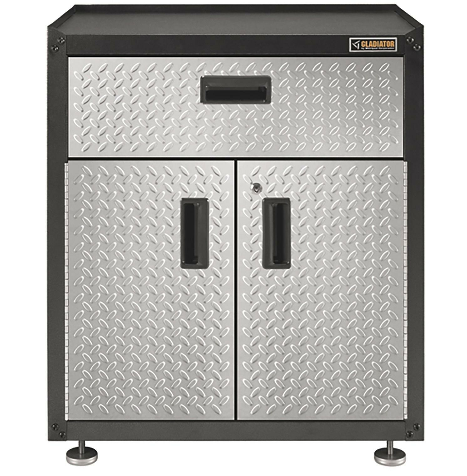 Gladiator 28-inch Ready-to-Assemble Steel 2-Door Freestanding Garage Cabinet wit
