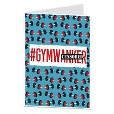 Funny Rude Gym Birthday Card Mens Boyfriend Husband Weights Keep Fit Fitness