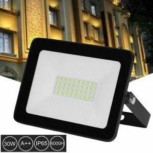 30W-LED-Flood-Light-Outdoor-Spotlight-Garden-Yard-Wall-Lamp-110V-6500k