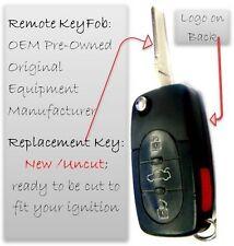 Quatro keyless remote control transmitter FOB entry A8 Quattro uncut key blade