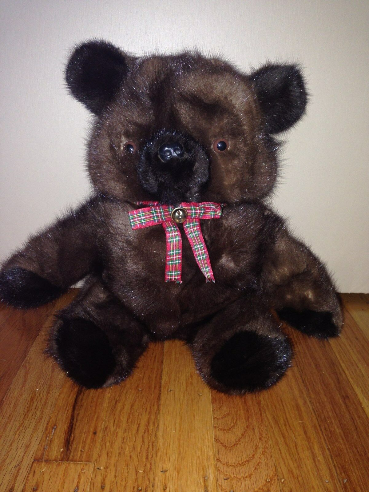 MINK FUR CHRISTMAS TEDDY BEAR KIDS TOY