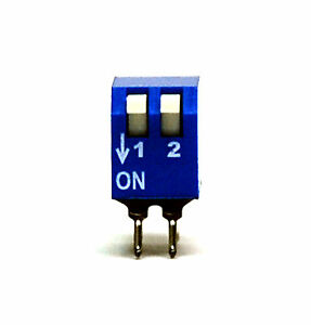 100pc 2P Edge actuated Side Piano Type DIP Switch pitch=2.54x7.6<wbr/>2mm ECE EPS102AZ