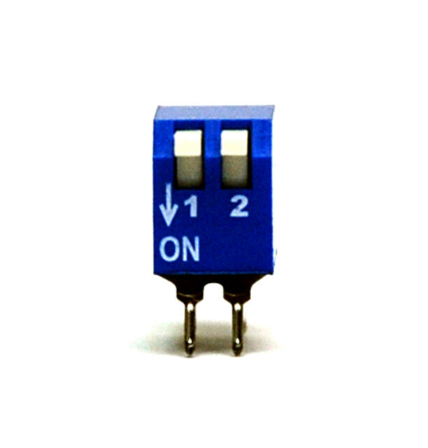 100pc 2P Edge actuated Side Piano Type DIP Switch pitch=2.54x7.62mm ECE EPS102AZ
