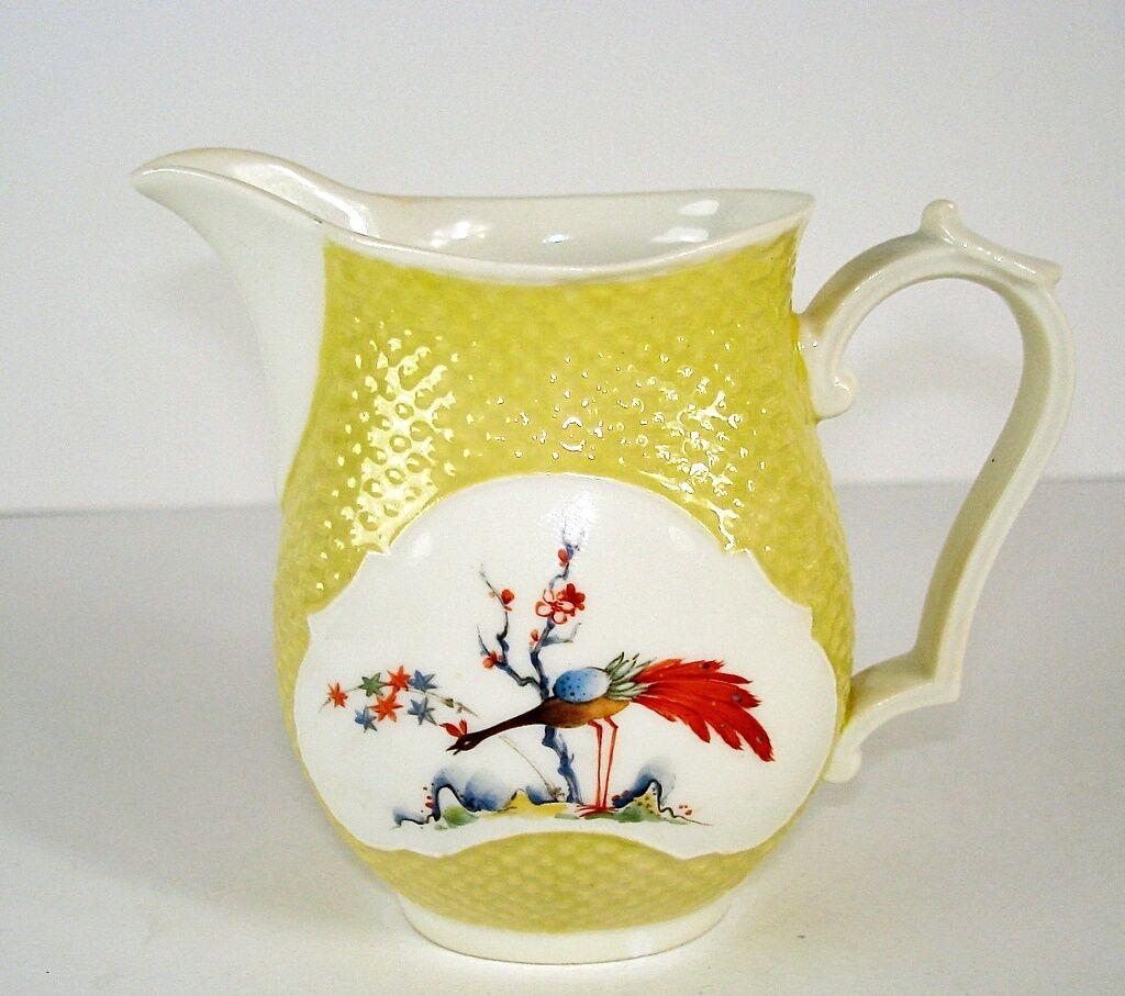 Milchkännchen ca. 9 cm  Nymphenburg Vogeldekor  gelb mit weissem Fond