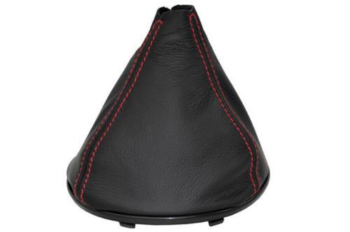 CUIR GEAR GAITER avec coutures rouge Fits FORD KA 2009