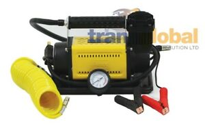 t max 12v powerful heavy duty portable air compressor 4x4 tyre pump ba 2641 ebay. Black Bedroom Furniture Sets. Home Design Ideas
