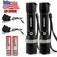 Tactical Police Swat Heavy Duty 3w Led Rechargeable Flashlight + 18650 + Charger