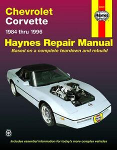 1984 1996 c4 corvette haynes repair service workshop manual book rh ebay com C3 Corvette C6 Corvette
