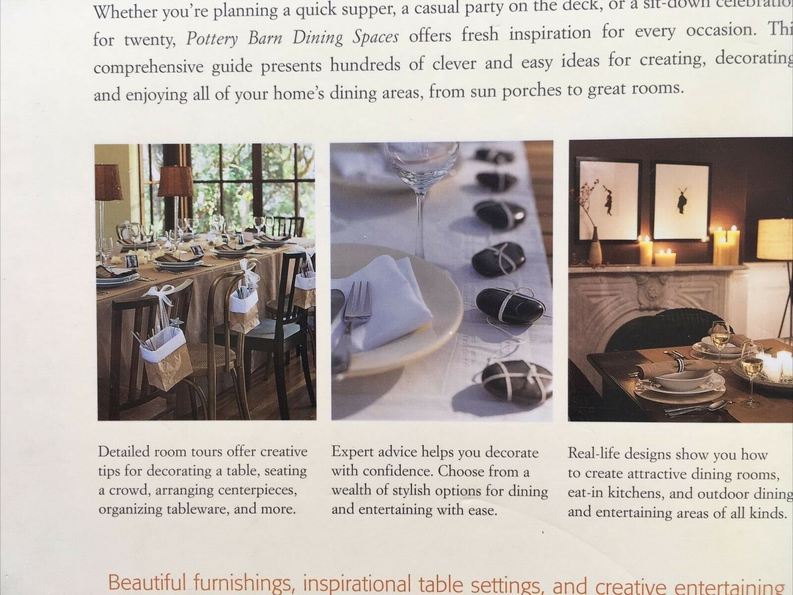 Pottery Barn Dining Spaces By Pottery Barn Editors 2004 Hardcover For Sale Online Ebay