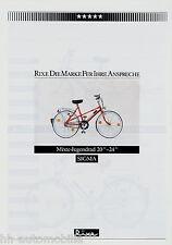 """Prospekt Rixe Sigma Mixte Jugendrad 20-24"""" Fahrrad 1984 Fahrradprospekt brochure"""
