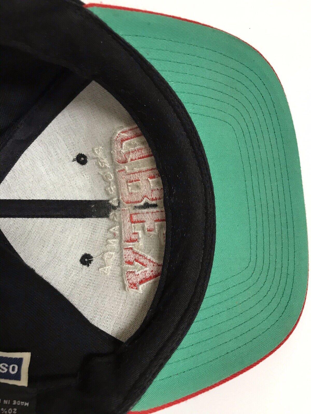 Propaganda Obey Red Black Snapback Hat - image 8