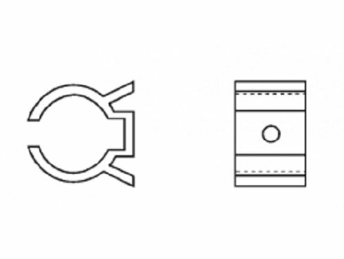 "1/"" x 1-1//8/"" Component Clip BLACK PVC Plastic Fastener K23011"