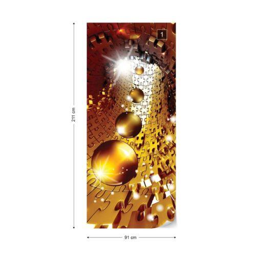 Papier Peint Photo papier peint facile installer Polaire sphères puzzle art abstrait or