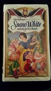 WALT-DISNEY-Snow-White-and-the-Seven-Dwarfs-VHS-Masterpiece-Collection-1524