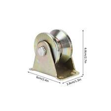 Vgroove Plate Caster Sliding Gate Roller Steel For Factory Doors Industrial