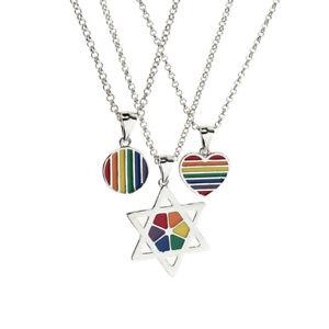 Gay-Lgbt-Pride-Rainbow-Flag-Charms-Pendant-Necklace-Men-Women-Unisex-Jewelry