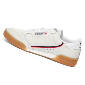 ADIDAS-MENS-Shoes-Continental-80-White-Crystal-amp-Scarlet-EE5393