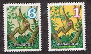 台湾- 1979 新年 - 猴  2v 全新上品 (绝对保真)