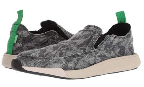 Sanuk Chiba Quest Funk Shoes New Mens 12 Black // Tan // Camo #30373 F1194