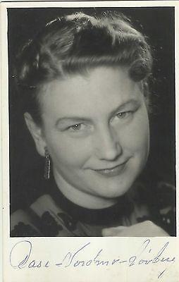 Nice Aase Nordmo Louberg Original Vintage Handsigned Postcard 1950's Unusual Music Classical, Opera & Ballet